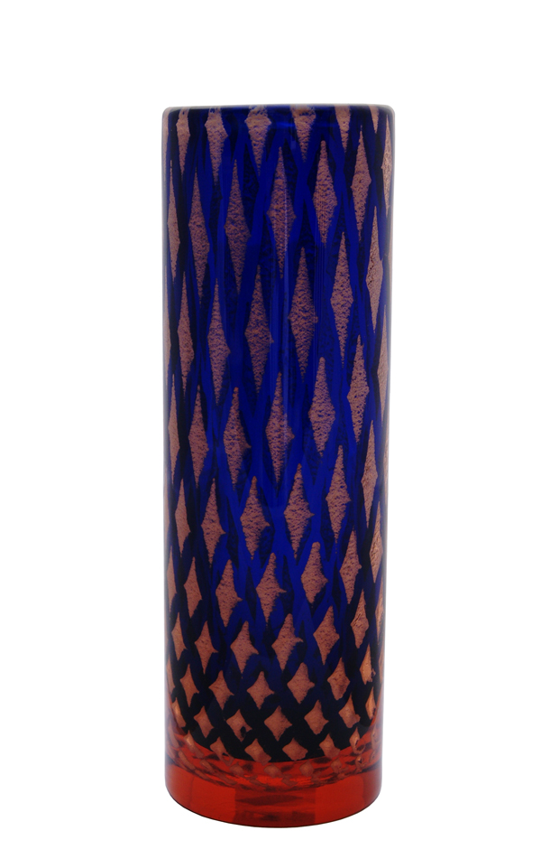 A 1960s Josef Hospodka for Chribska Mica Diamond Vase
