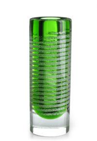 A Frantisek Vizner for Skrdlovice Green Mica Cylinder Vase