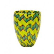 A Venini 'Calabash' vase, designed by James Carpenter, dated 1986.
