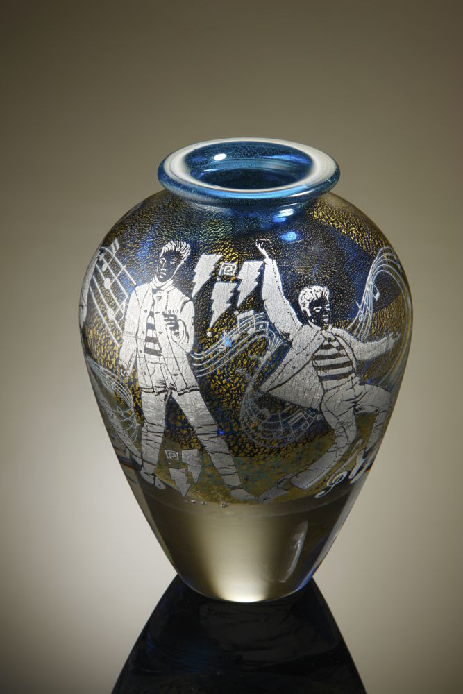 Jonathan Harris 'Elvis Presley' Vase designed by Mark Hill