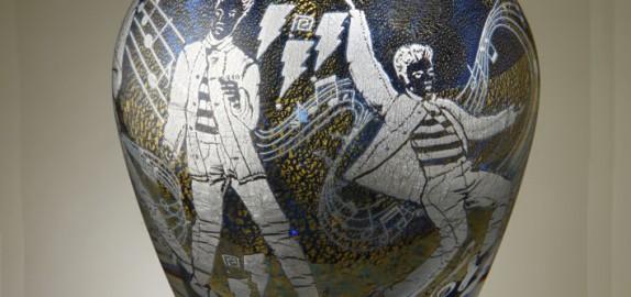 Jonathan Harris Elvis Presley Cameo Graal Vase designed by Mark Hill