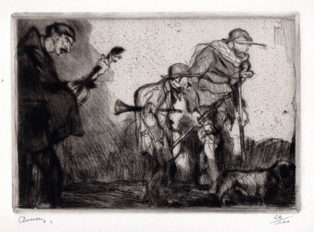 Armand Coussens Print Etching
