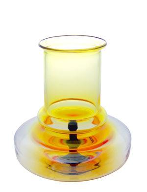 A rare 1970s Pavel Hlava Garnet Studio Vase