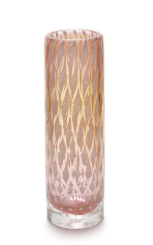 A Josef Hospodka for Chribska Mica Diamond Vase