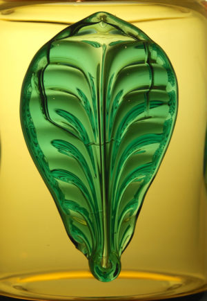 A Josef Hospodka Applied Leaf & Boss Vase