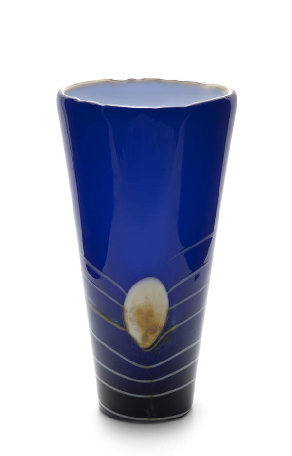 A Large Jiri Suhajek for Crystalex Flora Vase