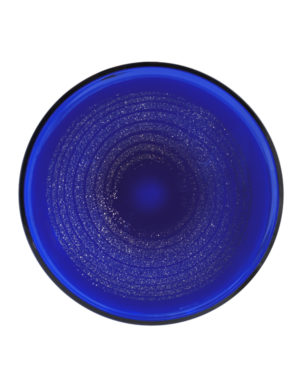 A Frantisek Vizner for Skrdlovice Cobalt Blue Mica Charger