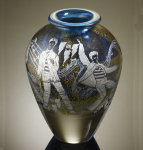 Jonathan Harris Elvis Presley Cameo Graal Vase designed by Mark Hill