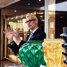 Mark Hill Lecturing at Lalique during London Craft Week 2016