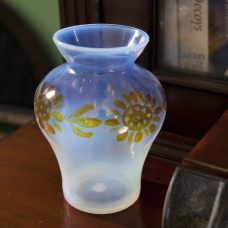 Opalescent Sunflower Vase