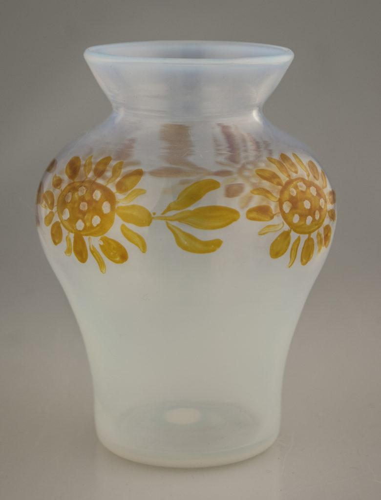Enamelled Opalescent Sunflower Vase
