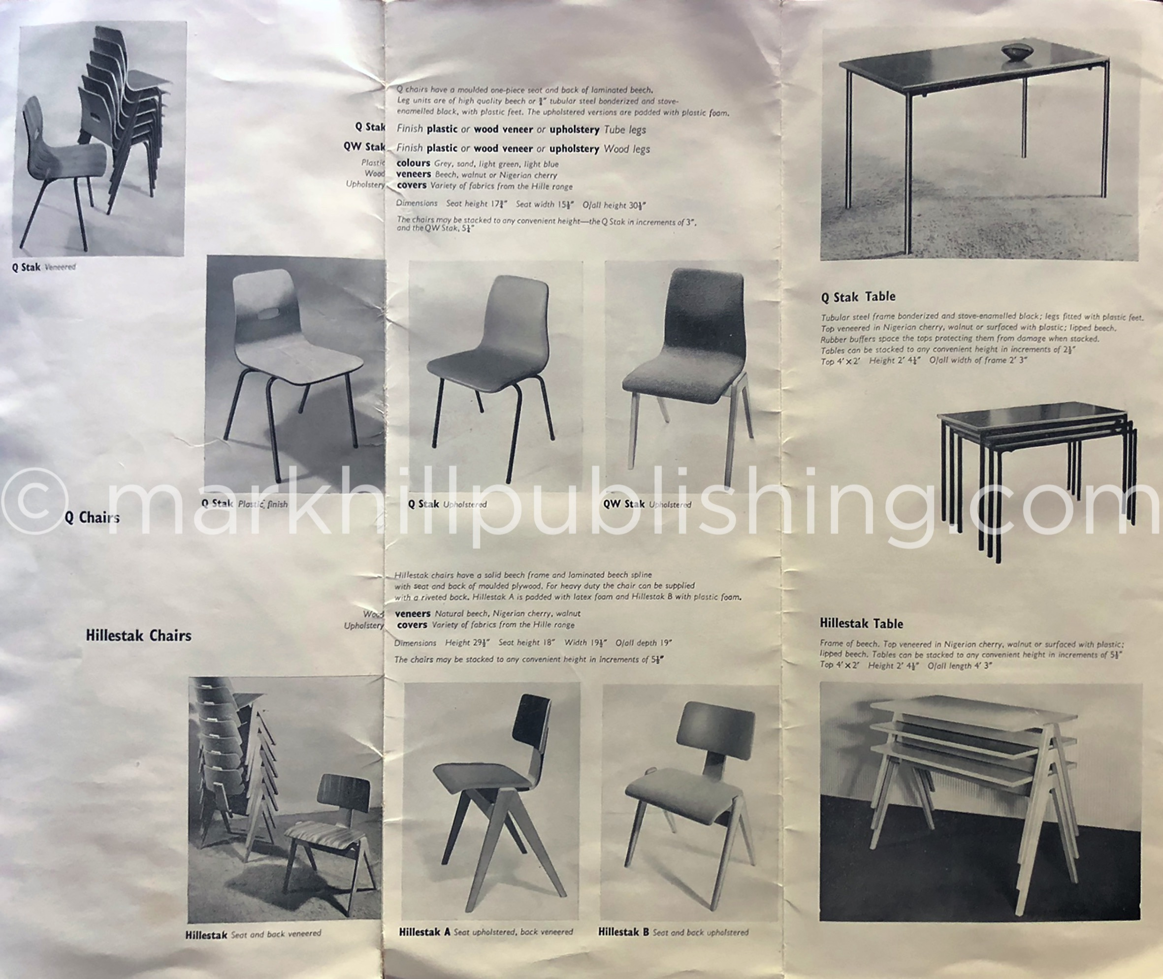 1960s original Hille furniture catalogue Robin Day Hillestak